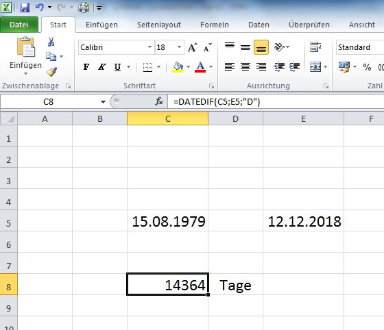 datedif_in_excel